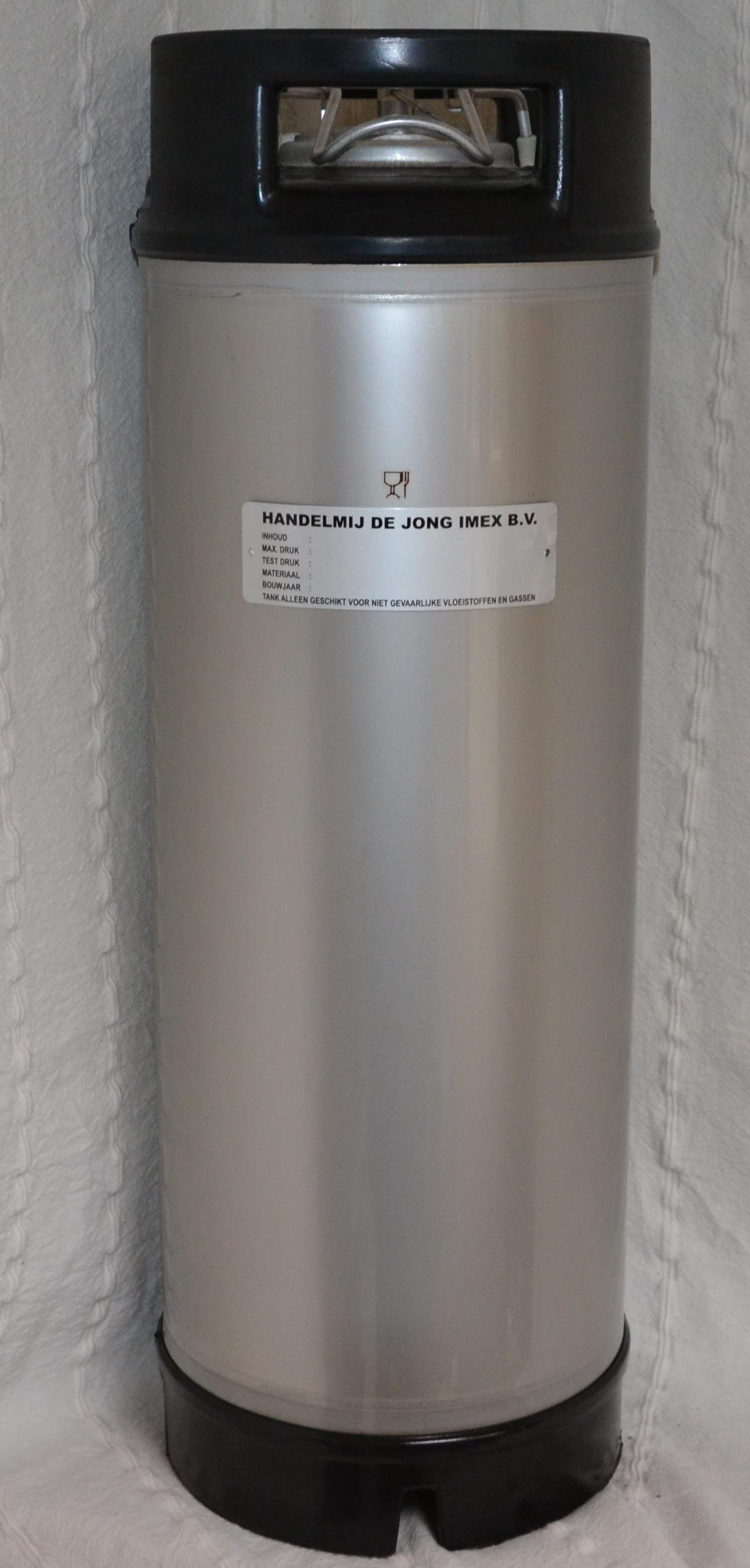 Drukvat inh. 18,9 ltr. Rubber standvoet Image